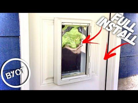 EXTERIOR DOOR WITH DOG DOOR INSTALL