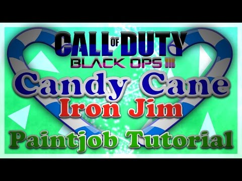 Iron Jim // Candy Cane Paint Job Speed Art - Black Ops 3