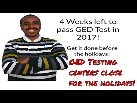 Pass the GED Test in 2017