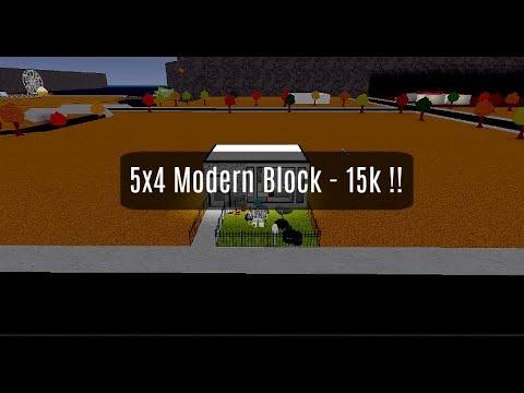 Roblox | Bloxburg | Making a 5x4 Modern Block! (15k