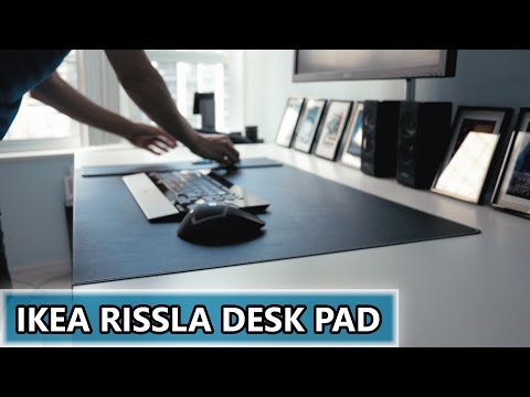 A Gigantic IKEA Rissla Mouse Pad - The Beginning of Desk Setup #2