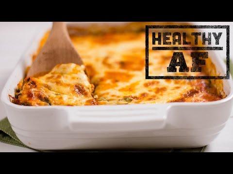 Chicken and Spinach Make Ahead Lasagna l Healthy AF