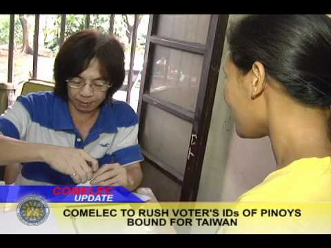COMELEC fast tracks issuance of voter IDs for Taiwan bound OFWs