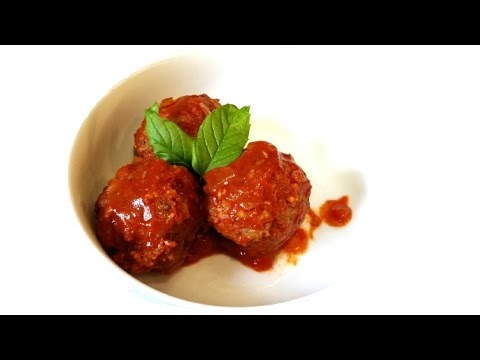 How to Make Meatballs with Rice in Tomato Sauce  Step by Step Tutorial Recipe