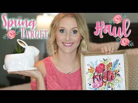 Target Dollar Spot Haul/Spring and Easter Decor/Makeup & Clothing Haul