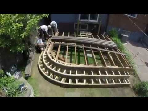 TruNorthDeck curved deck and fence - time lapse build