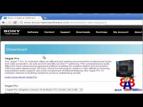 HOW TO INSTALL SONY VEGAS PRO 10 FULL VERSION AND KEYGAN CRACK - HD