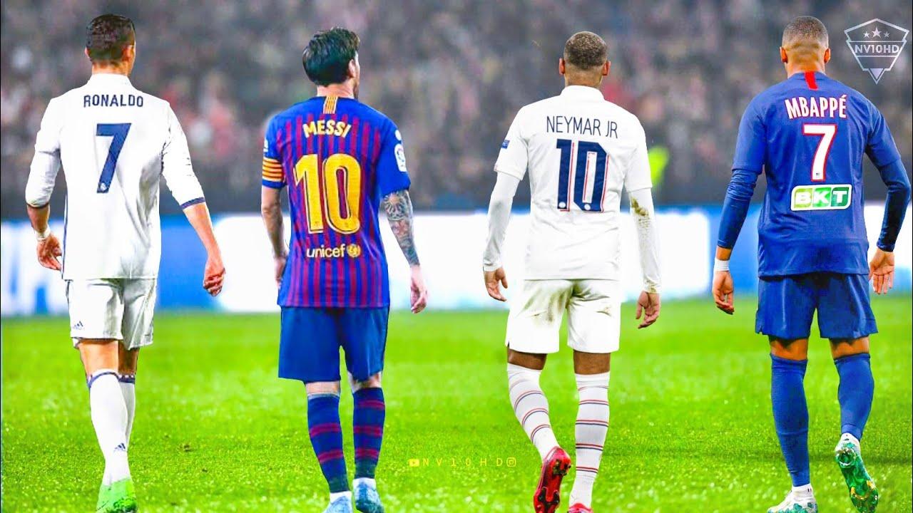 Neymar vs Cristiano Ronaldo vs Messi vs Mbappe●Top 10 Skills  HD