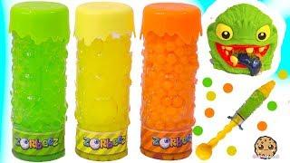 Orbeez Zorbeez Monsters - Water Ball Bead Toy Crusher - Cookie Swirl C Video