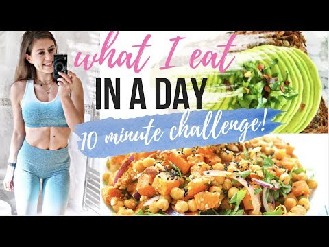 WHAT I EAT IN A DAY    10 MINUTE CHALLENGE - QUICK, EASY RECIPES!