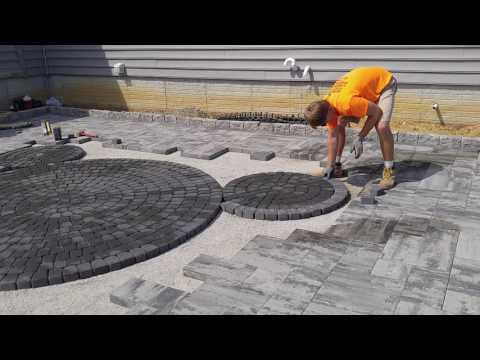 Mickey Mouse patio hardscape ideas from Nicolock circle kit New Oxford - Ryan's Landscaping