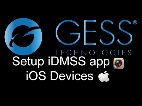 GESS Technologies Mobile CCTV app - iDMSS Setup for iPhone