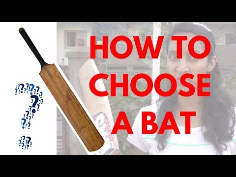 Cricket How To: How to CHOOSE A BAT