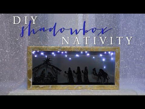 Shadow Box Nativity DIY   12 Days of Christmas Series (Day 4)