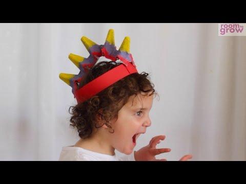 Dinosaur Hat made from an Egg Carton