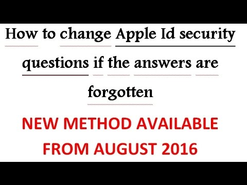 How to change apple id security questions without rescue email and if you forgot security questions