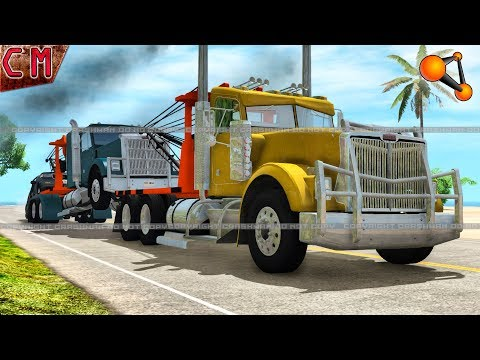 Tow Truck Job Not a Lucky Day in BeamNG Drive #3