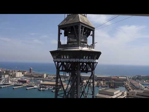Barcelona Port Cable Car Video