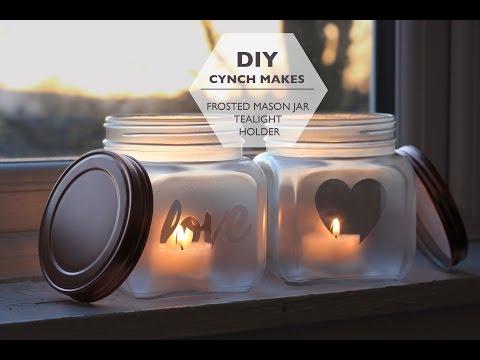 DIY   Frosted Mason Jar   cynch makes