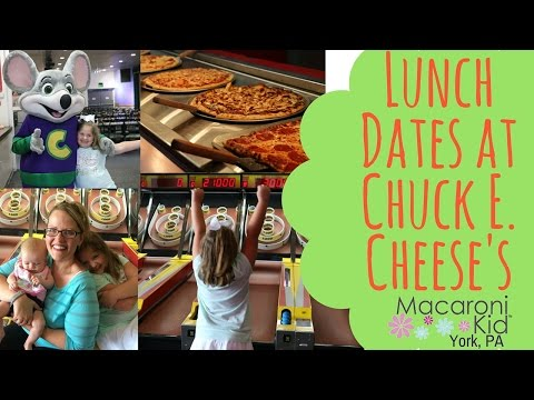 Lunch Date at Chuck E Cheese's New Lunch Buffet with Indoor Arcade and Play Center