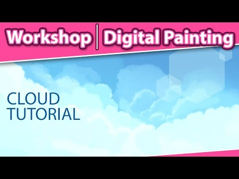 How to Paint Clouds in Photoshop - Digital Painting Workshop