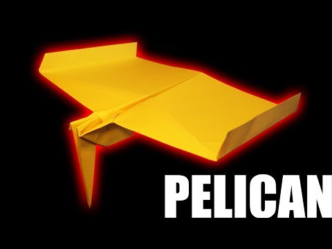 How To Make A Cool PELICAN Paper Airplane :D Best Amazing paper airplanes 2018