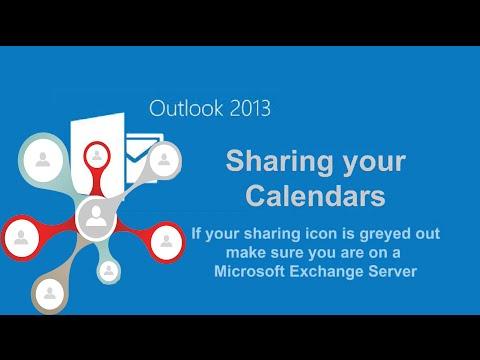 📆Outlook 2013 Calendar Sharing Exchange📧
