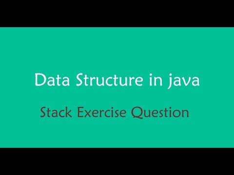 java data structure - Stack exercise