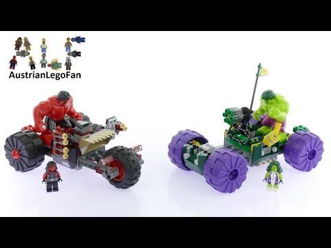 Lego Super Heroes 76078 Hulk vs  Red Hulk - Lego Speed Build Review