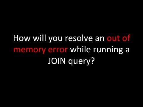 How will you resolve an out of memory error while running a JOIN query?