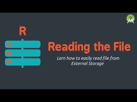 Read File from External Storage | Android Studio