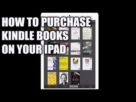 How to buy Kindle books on an  iPad