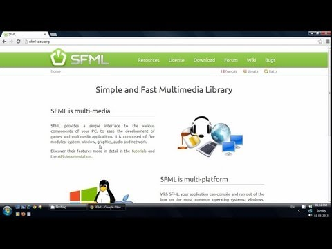 Build SFML from source with MinGW and set up in Code::Blocks