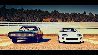 Forza Horizon 2: Fast and Furious - Brians Toyota SUPRA vs Doms Dodge CHARGER | Drag Race