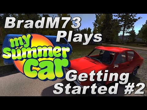 My Summer Car - Episode 2 - Getting started + Chassis build tutorial + Engine Start!