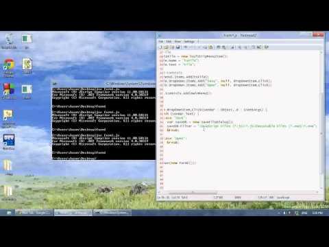 JScript .NET Tutorial 7 - Open and Save File Dialog Boxes