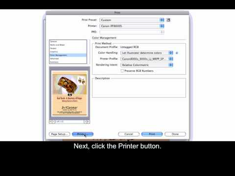 Canon iPF Printers - Printing from Adobe Illustrator - Mac