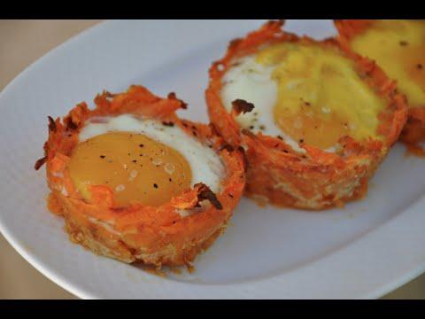Sweet Potato Egg Cups - on-the-go breakfast recipe