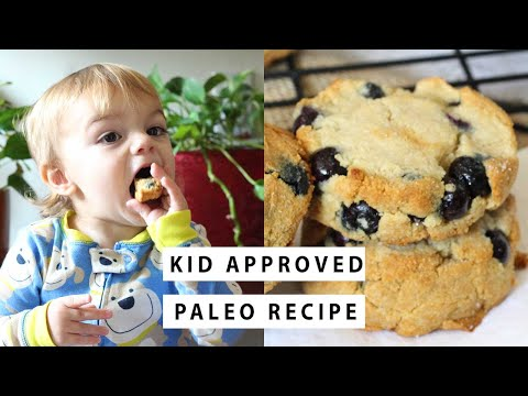 GRAIN FREE PALEO BLUEBERRY SCONES