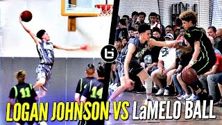 Logan Johnson vs. LaMelo Ball - Lopsided Game Gets Heated! Tyler Johnson's Younger Bro (Miami Heat)