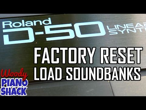 Roland D-50 sounds reset | load patches via sysex tutorial