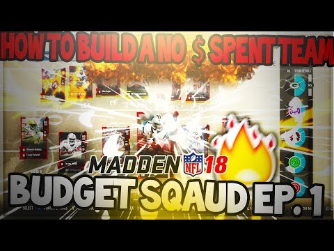 Madden 18 Ultimate Team :: Building A Mut Squad With No Money Spent! Budget Squad Ep.1