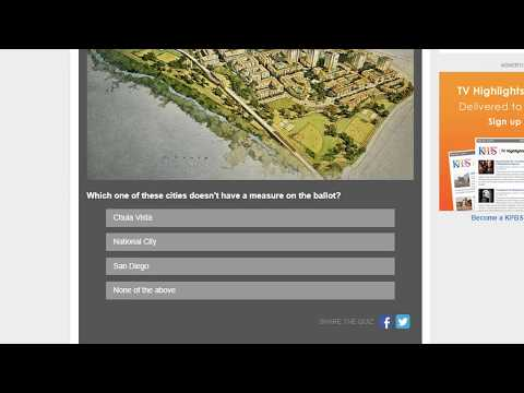 Take The KPBS Election 2018 Quiz