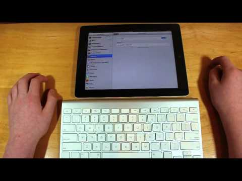 How to Connect Pair a Bluetooth Wireless Keyboard to your iPad