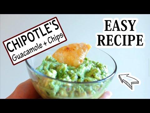 Chipotle's Guacamole + Tortilla Chips   Easy Recipe