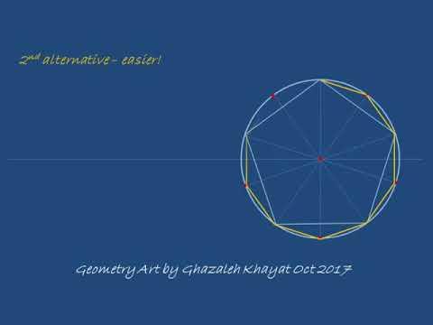 Drawing a decagon using a pentagon