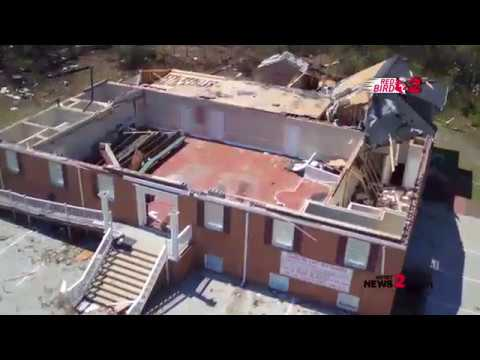 Red Bird 2: Drone Video After EF-2 Tornado Hits Greensboro