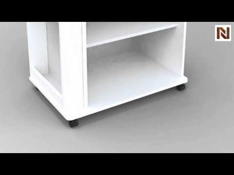 Nexera Storage Microwave Cart 397