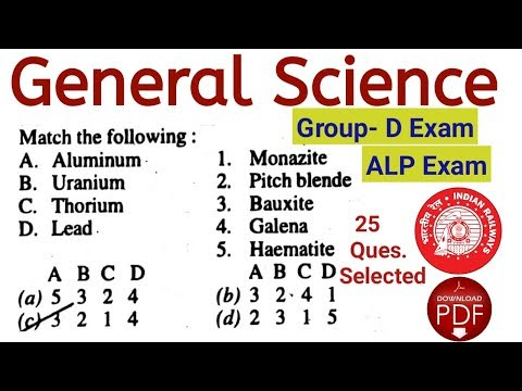 Online Class For Railway Group- D & ALP General Science. Important 25 Question for Railway Exam