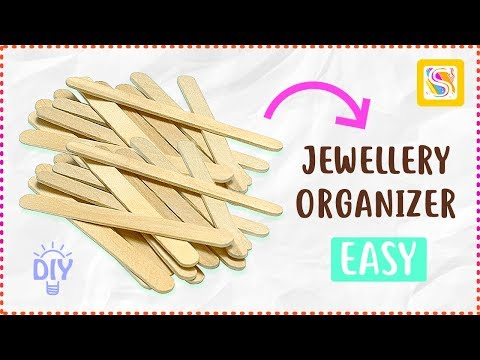 DIY Jewellery Organizer made with Ice Cream Sticks | Popsicle Stick Craft Ideas
